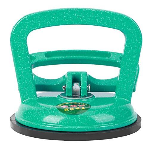 Levantador de vidrio - Levantador de vidrio Extractor de succión Herramienta móvil Aleación de aluminio + caucho Verde Garra simple estándar