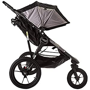 Baby Jogger Summit X3 Double Jogging Stroller - 2016 | Air-Filled Rubber Tires | All-Wheel Suspension | Quick Fold Jogging Stroller, Black/Gray