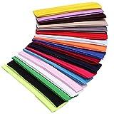 YMHPRIDE 18 piezas diadema de yoga deportivo banda elástica banda para el cabello para niñas damas
