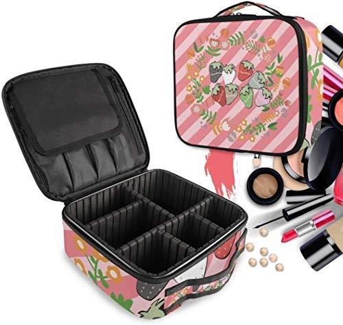 Cosmétique HZYDD Fruits Fleur Rose Make Up Bag Trousse de Toilette Zipper Sacs de Maquillage Organisateur Pouch for Compartiment Femmes Filles Gratuit