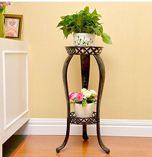 $Etagère d'exposition Support de fleur Support de fleur de fer européen Support de pot de fleurs multicouche ( Couleur : Classic black )
