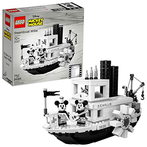 LEGO Ideas 21317 Disney Steamboat Willie Building Kit (751 Pieces)