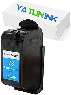 YATUNINK Remanufactured Ink Cartridge Replacement for HP 78 Tri-Color Ink Cartridge Compatible for HP Deskjet/Color Copier/Fax /Officejet/Photosmart /PSC Series Printer(1 Pack)