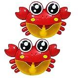 SaniMomo 2X Krabben Blase Maker Maschine Musikalische Blase Automatisierte Bad Baby Kleinkind Spielzeug