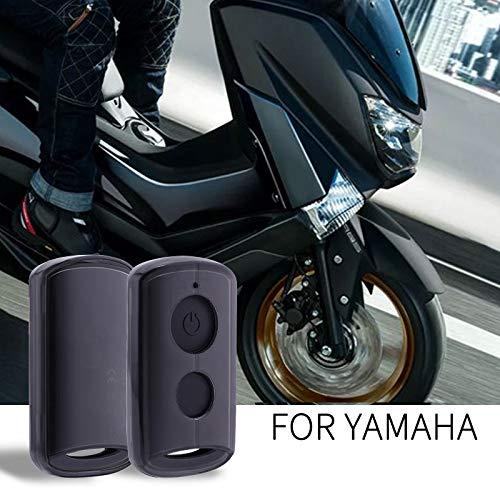 for Yamaha Aerox 155 2015 2016 2017 2018 2019, QBIX 2017 2018 2019 TPU Motorcycle Key Case Key Protection (Black)