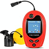 LUCKY PortableFishFinder Fish Detector Device Handheld Depth Finder for Boat Kayak Canoe Pontoon Jon Boat Jet ski Float Tubes fishfinder for ice Fishing surf Fishing Gifts for Men