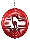 SWEN Products Alpaca Circle Swirly Metal Wind Spinner