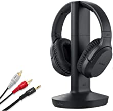 Sony Wireless RF Headphone 150-Foot Range, Noise Reduction, Volume Control, Voice Mode, 20-Hr Battery Life –NeeGo 6-ft 3.5...