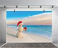 Qinunipoto クリスマス 背景 撮影 撮影背景 撮影用 背景布 プロ級写真撮影用 撮影用バックペーパー 人物撮影 子供撮影 背景シート 海 クリスマス 写真館 撮影スタジオ用 パーティー ビニール製 1.5x1m