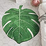 LIVEBOX Nursery Rug for Bedroom ,35' × 44' Green Leaf Kids Play Area Rugs Non-Slip Children Carpet for Playroom Decoration Machine-Washable Faux Wool Cute Baby Floor Playmats