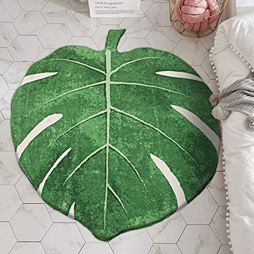 """LIVEBOX Play Mat, Faux Wool Kids Play Area Rugs Green Leaf 35"""" × 44"""" Non-Slip Children Carpet for Living Room Bedroom Decoration Playroom Nursery Best Shower Gift"""