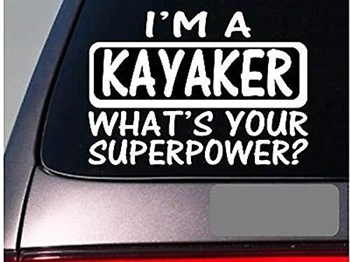 CELYCASY I'm an Kayaker-Aufkleber DecalE116 Kajak Kajak Fluss Boot Rettungsweste Jacke