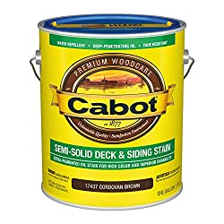 cheap Cabot 140.0017437.007 Low VOC semi-hard floor and siding, gallons, brown cordovan