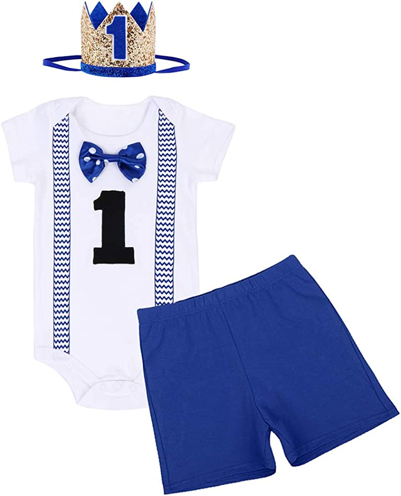 55% OFF ODASDO Baby Boy First Birthday Outfit Infant Gentleman Tie shop S Bow