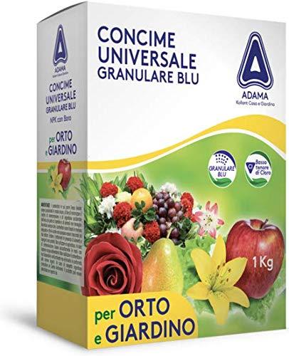 adama CONCIME NUTRIMENTO GRANULARE 1KG Universale Blu ORTO Giardino NPK 12-12-17