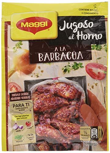 Maggi Jugoso al Horno a la Barbacoa - 1 Bolsa para Horno con Condimentos - Paquete de 16x30g - Total: 480g