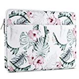 MOSISO Laptop Sleeve 360 Protective Case Bag Compatible with 13-13.3 inch MacBook Pro, MacBook Air, Notebook Computer, Polyester Horizontal Shockproof Carrying Bag with Accessory Pocket, Banana Leaf