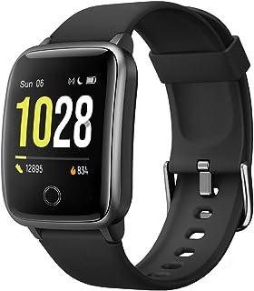 Willful Smartwatch,Pantalla de 1,3 Pulgadas Reloj Inteligente Impermeable IP68 con Pulsómetros para Mujer Hombre, Pulsera ...