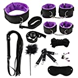 10 PCS Adullt Toys for Couples Sex Best Adjustable S & M Game Tools Kit (Color : Purple)