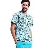 Scurbs - Conjunto de uniforme de trabajo con cuello en V -  Multi color -  S/etiqueta L