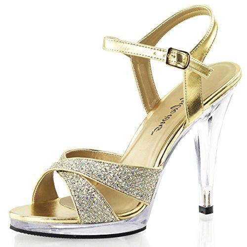 Higher-Heels Fabulicious Riemchen-Sandaletten Strass Flair-419G Gold Gr.42