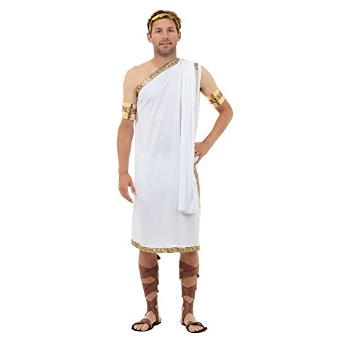 Bristol Novelty AC624 Caesar Costume, Gold, 44 Inch