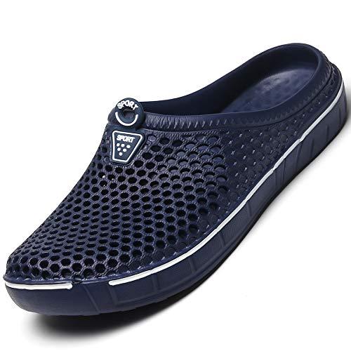 Acfoda Chaussons légers pour homme et femme respirants Hohl Slippers Taille 36-45 - Bleu - bleu, 38 EU