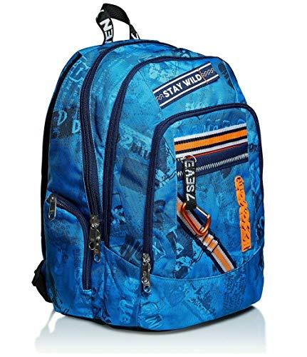 seven. Zaino Scuola Advanced Upbeat Blu 43x31x24cm