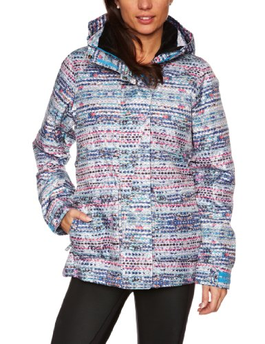 RIP CURL Pizzaz Veste de Ski pour Femme Imprimé Blanc Blanc XS