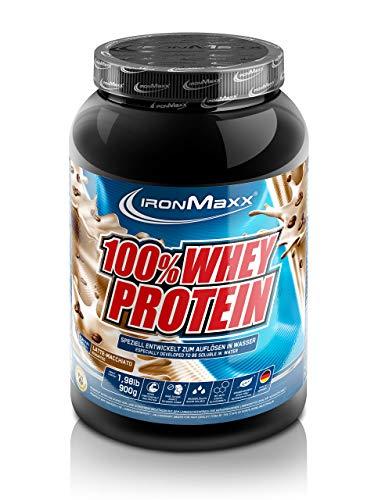 IronMaxx 100% Whey Protein – Wasserlösliches Whey Eiweißpulver – Proteinshake mit Latte Macchiato Geschmack – 1 x 900 g Dose