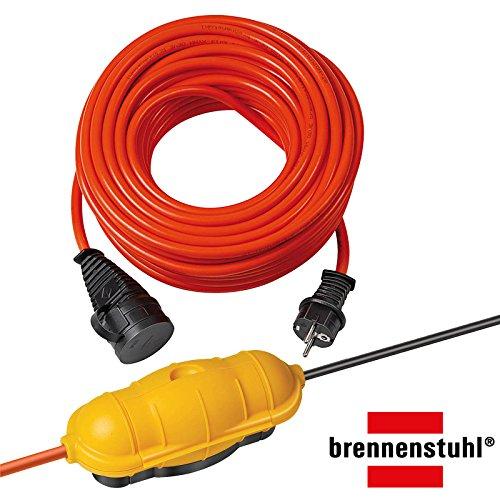Brennenstuhl Bremaxx Verlängerungskabel IP44 20m rot, 1161760 + SafeBox Big, gelb/orange