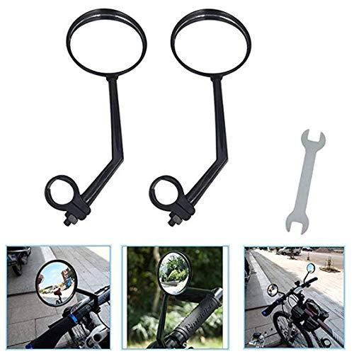 YLIK Un Paio di retrovisore Biciclette Specchi, Bici Specchi Supporto a 360  di Rotazione Adatto a Mountain Bike, off-Road Bike e Bici a Scatto Fisso