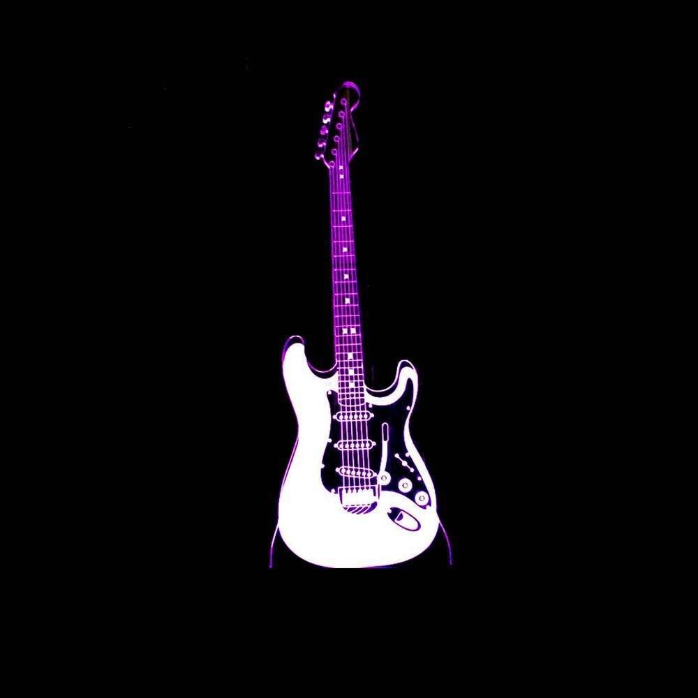 Wmshpeds guitarra eléctrica 3D ilumina creativa atmósfera de ...