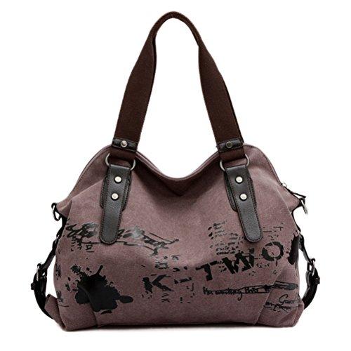 Umily Mujeres Bag Bolsos bandolera Mutil Function Bag Crossbody Bag Tote Carteras de mano-Púrpura claro