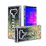 El Lumiere Air Art Milkyway Case for Samsung Galaxy Note 9 Flowing Liquid [Bling Glitter Starlight] Soft Flexible TPU [Cute Printed Back Cover] (Mermaid) (Renewed)