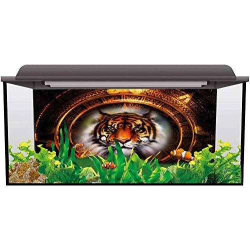 ScottDecor Aquarium 3D Backdrops Tiger,Ancient Mayan Calender Decals Poster L24 X H12 Inch