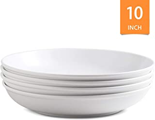 Porcelain Pasta Salad Bowls Large Serving Bowl for Dinner, Garden Parties 45 ounce Set of 4