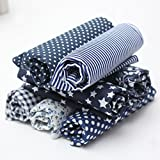 Leisial - 7 unidades de tela de algodón, tejidos estampados de algodón para coser, tela por...