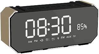 GLJJQMY Wireless Bluetooth Audio Alarm Clock Speaker Audio LED Large Screen Display FM Radio Audio