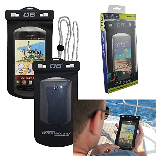 Overboard Waterproof floating case for iPhone 6 PLUS. Comes with Lanyard, Carabiner and it Floats. Great for Boating, Fishing, Camping, Swimming, Beach Activities and more.