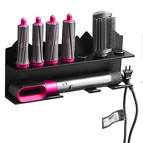 Kyrio Support mural pour sèche-cheveux Dyson Airwrap Styler fer à boucler et 7 accessoires, kit de rangement mural en acier inoxydable
