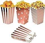36 Bolsas Palomitas 11.5x 7 cm, Cajas de Palomitas, Popcorn Boxes, Cumpleaños, Bodas, Película, Cine, Carnaval,Bolsos de Fiesta Caramelos, Chuches, Decoracion
