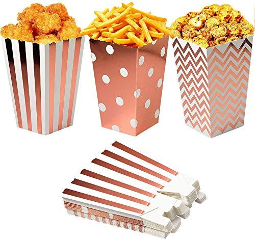 PTN Scatole per Popcorn, vaschette per Popcorn durevoli, Contenitore per Caramelle in Cartone per Popcorn di Carta per Compleanno, Serata al Cinema, Decorazioni per bomboniere 36 Pezzi
