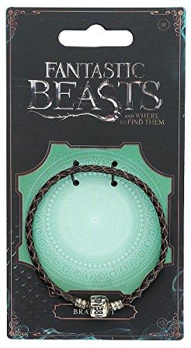 Bracelet pour pendentif slider charm Les Animaux fantastiques diamètre 0,5cm bijou cuir brun - 19 cm