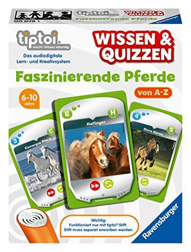 Ravensburger tiptoi 00079 Wissen und Quizzen: Faszinierende Pferde, Quizspiel für Kinder ab 6 Jahren, für 1-6 Spieler
