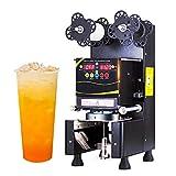 ManWang Máquina Selladora de Vasos Automática Comercial Sellador para Sellar Vasos de Papel y Plástico, con Operación inteligente de la pantalla LED, para sella agua, jugo, leche 300-500 Vasos/Hora