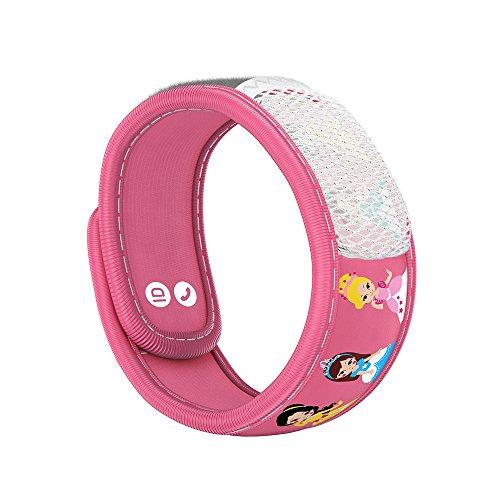 Para'Kito Essential Oil Mosquito Repellent Wristband Bracelet for Kids. (Princess)