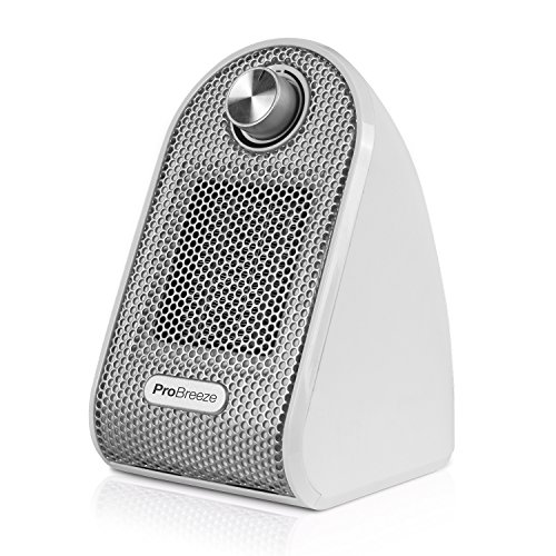 Pro Breeze™ 500W Mini-Keramik-Heizlüfter für den Arbeitsplatz oder Schreibtisch - PTC-Keramik Compact Heizgerät - Weiß