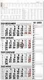 4-Monatskalender Kombi 2022 - Büro-Kalender 33x58,7 cm (geöffnet) - mit Datumsschieber - inkl. Jahresübersicht - Alpha Edition