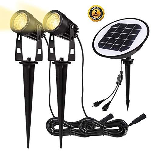 Gartenleuchte Solar | B-right Solarleuchten, LED Gartenbeleuchtung Solar, Gartenstrahler Solar, warmweiß, Wasserdicht LED Solarlampe, Solar Außenleuchte, Gartenlampe, Wegeleuchte, Spotbeleuchtung